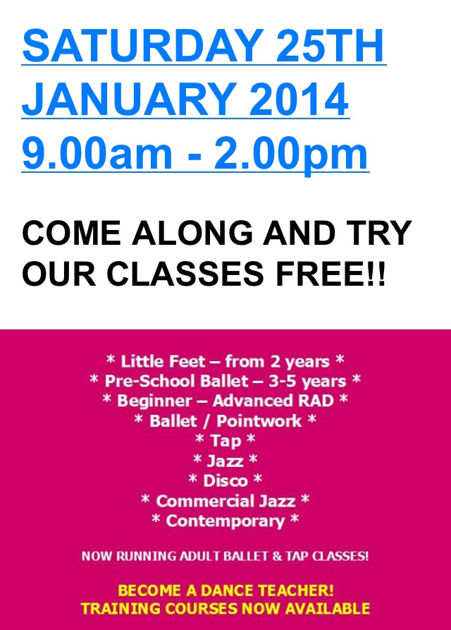 OPEN DAY 25th Jan 14
