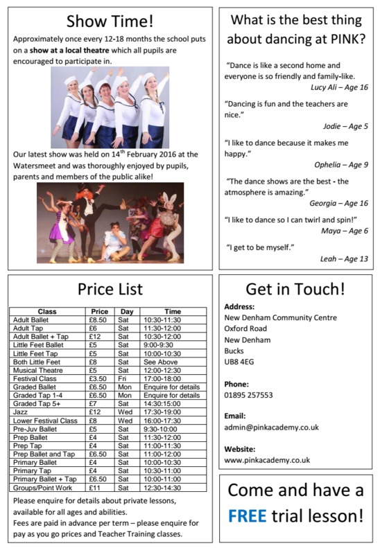Information Brochure 2016 Page 2